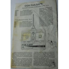 COX Airplane No. 0022 Failsafe Instructions Pilots Flight Manual