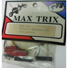 Max Trix No. MX -109 Battery Eliminator W/O Switch