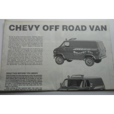 Monogram No. 0001 Instructions Desert Rat Chevy Off Road Van