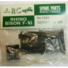Nikko RC No. 1023 Rhino Bison F-10 Battery Lid Set