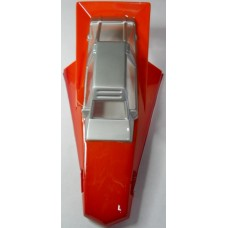 Jerobee No. 0002 Rough Rider Orange and Silver 1/12 Scale Lexan Body