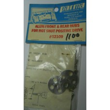 Parma No. 12109 Hubs Aluminum F & R for Hot Shot Positive Drive
