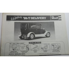 Revell No.0004 Scale Model Instructions 26 T Delivery Lil' John's