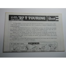 Revell No.0005 Scale Model Instructions 27 T Touring Lil' John Buttera's Ford Street Rod