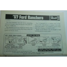 Revell No.0007 Scale Model Instructions 57 Ford Ranchero