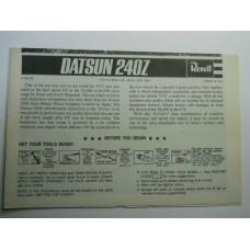 Revell No.0001 Scale Model Instructions Datsun 240 Z