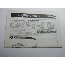 Revell No.0008 Scale Model Instructions T Bone Stake