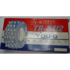 You-G No. 8412 Tires Rear Spike Fits Tamiya