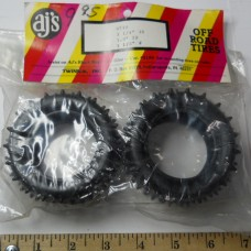 AJ's No. 9798 Tires Rubber Spiked Black 1.9 Inch I.D. 3 1-4 Inch O.D