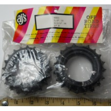 AJ's No. 9803 Tires Rubber Spiked Front Black 1.9 Inch I.D. 3 1-4 Inch O.D 1 Inch Width