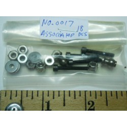 Associated No. 0017 Nuts and Bolts Shock Parts 18 Pieces