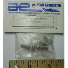 Associated No. 4182 Screws 8-32 X 3-8 Aluminum Round Head