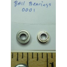 Ball Bearings No. 0001 Stainless Steel 1-8 Inch ID with Lip Pair