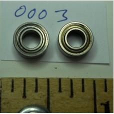 Ball Bearings No. 0003 Stainless Steel for Tamiya Pair