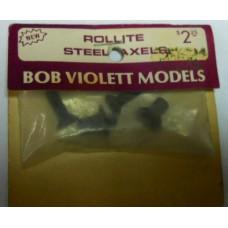 Bob Violet Models No. 0001 Rollite Steel Axles Set of 4