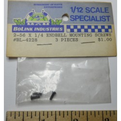 Bolink No. 4228 Screws Endbell Mounting 3 pieces 2-56 X 1-4