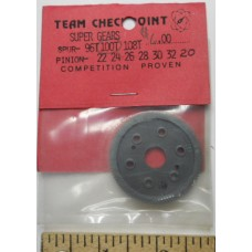 Checkpoint No. 0100 Super Spur Gear 100 Tooth Nylon Black all Cars