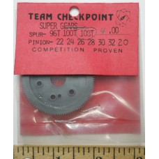 Checkpoint No. 0108 Super Spur Gear 108 Tooth Nylon Black all Cars