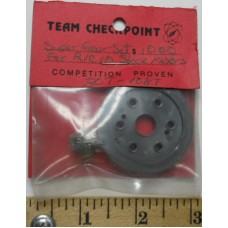 Checkpoint No. 30T-108 Super Spur and Pinion Gear 30 T and 108 T Nylon Black all Cars