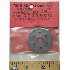 Checkpoint No. 0096 Super Spur Gear 96 Tooth Nylon Black all Cars