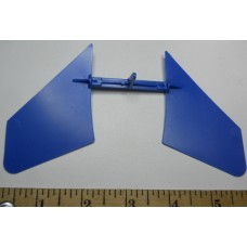 COX Airplane No. 0044 Elevator for jet Plastic Blue Small As Shown