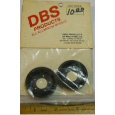 DBS Products No.0002 Front Black Anodized Aluminum Rims Pair for Sand Scorcher