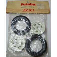 Futaba No. FX-10-002 Front Tires and Rims Pair