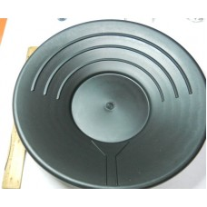 JHAC No. 0002 Large Gold Pan Black Plastic 12""