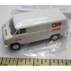 Herpa No. 0015 HO 1-87 White Van CNN News No. 5 Chrome Wheels