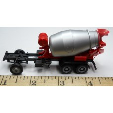 Herpa No. 0017 HO 1-87 Cement Mixer Red and Silver Black Chassis