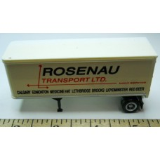 Herpa No. 0021 HO 1-87 Truck Trailer White Rosenau Transportation Some Fading