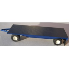 Herpa No. 0023 HO 1-87 Trailer Blue 4 Wheels Broken Coupler