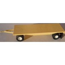 Herpa No. 0026 HO 1-87 Trailer Tan 4 Wheels with Coupler