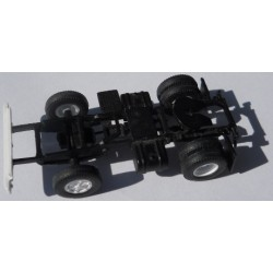 Herpa No. 0027 HO 1-87 Chassis Standard Black with White Rims and Bumper