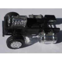 Herpa No. 0032 HO 1-87 Truck Chassis Chrome with Front Motor and Wheels Only