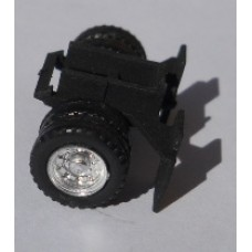 Herpa No. 0034 HO 1-87 Truck Container Rear Black Wheels and Mud Guards