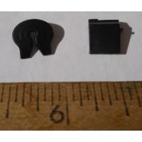 Herpa No. 0086 HO 1-87 black mud flap and grease wheel