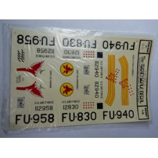 Micro Scale Decal Sheet No. 32-21 F-86 Korea 1