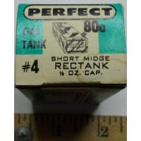 Perfect No. 0004 Gas Tank Short Midge Rectank One Half Ounce Capacity