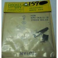 Rocket City No. 0064 Adjustable Servo Arm Black