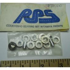 RPS No. 0001Cox-Kyosho Bearing Set with Tamiya Fronts