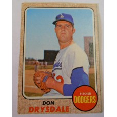 Topps Baseball No. 145 Don Drysdale Good Condition